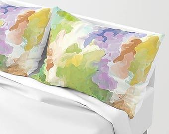 pillow shams king pillowcase set watercolor art modern pillow sham pillowcase set