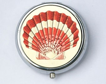 Scallop Shell Pill Case pillbox holder