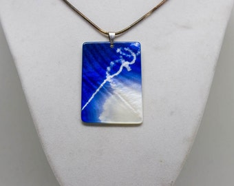 Airplanes & Flight Mother of Pearl Necklace
