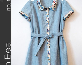 Green Bee Design PATTERN - Frances Dress for Girls - Sizes 2 - 10