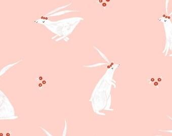 dear Stella FABRIC - Folkwood - Rabbits - Pink