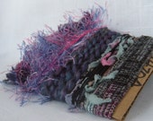 Art Yarn Bundle Purple Turquoise Pink Fiber Bits 1470
