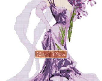 Knickerbocker girl - Victorian counted cross stitch kit