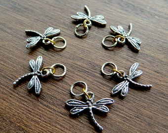 Dragonfly knitting stitch markers