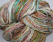 Handspun Corriedale Wool Yarn.  Single Ply Worsted Weight. Huge 2lb. Skein. No Knots. I'm a Sweater. 2lbs/970 yards