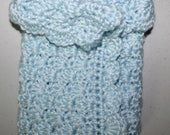 Sold To: Stephanie N / Angel Baby Wrap / Light Blue / Shell Stitch