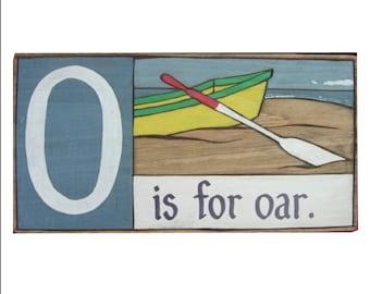 Boats, Shoreline Primer - O is for Oar