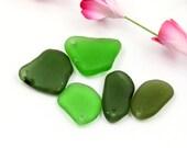 Bulk sea glass - Drilled sea glass - Sea glass crafts - Beach glass jewelry making -  Sea glass beads - Jewelry making - Gift beach lover