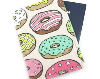 Large Donuts Passport Cover, Passport Holder, Passport Wallet, Passport Case, Travel Gift