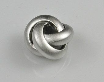 Matt Silver Three Rings / Knot Charms, Pendants Destash