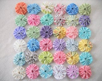 Easter YoYo Quilt Spring Baby Photo Prop Fabric Photography Prop Farmhouse Nursery  Mat Doiley