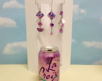 Pink Christmas Ornaments Upcycled Repurposed LaCroix Water Cans