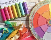 Fractured Color Wheel a wildboho Embroidery Pattern - Limited Edition