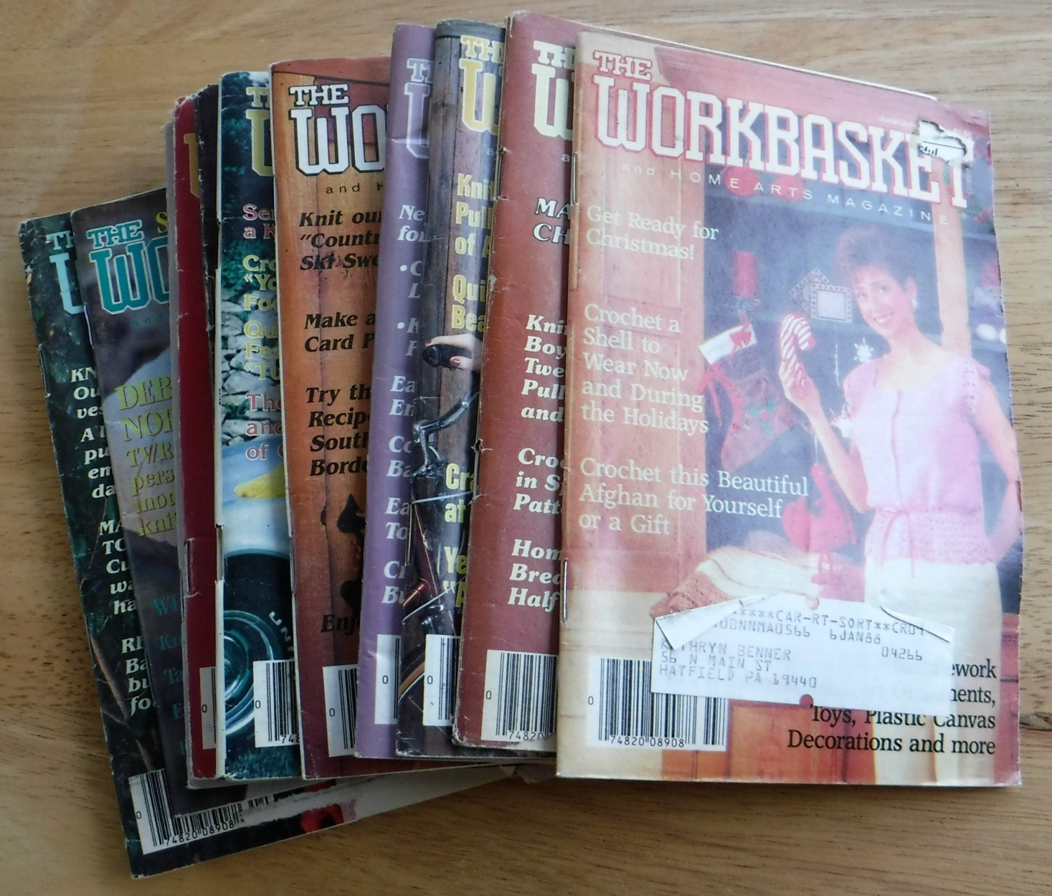 Lot of 12 1980s the workbasket and home arts magazine vintage sold by retrochicboutique bankloansurffo Choice Image