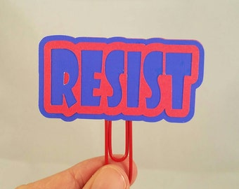 Resist paperclip/ Women's Rights Paperclip/ Paperclip Bookmark