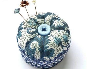 Miniature Pincushion, Blue Ferns