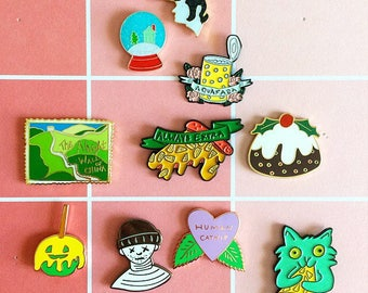 SECONDS SALE, enamel pins