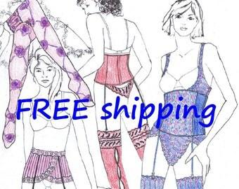 FREE Ship Pattern JAR6 for Stocking Suspender Waistcorset by Merckwaerdigh