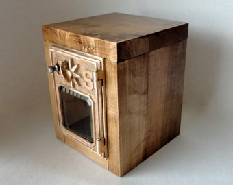 Knotty Maple Safe Bronze Brass Compass USPS Door Post Office Retirement LockBox Bank Groomsman Wedding 5th 8th Anniversary Star Combination