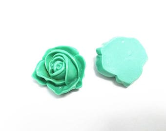 Wholesale 50pcs  30mm resin flower cabochons-off2#14