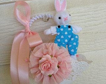 Easter Decoration Bunny in a Nut Cup Easter Ornament Easter Decor for Easter Party
