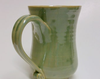 Green 18 ounce Pottery Mug - Holds 18 ounces of your favorite brew - hot or cold! Great for St Patrick's Day!