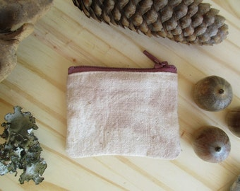 Boho Hippie Coin purse Zip pouch Natural Dye Style case mini zipper change pouch Crystal Keeper Flea Market cash fund Small purse Stocking