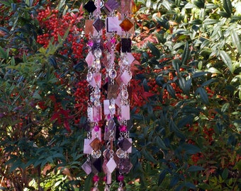 Petite Prudence - Unique Wind Chimes - Suncatcher - OOAK Gift For Her, Anniversary, Birthday, Wedding, Housewarming