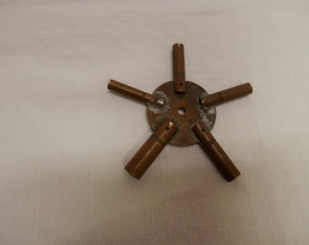 Rare Antique Clock Key Swiss Made