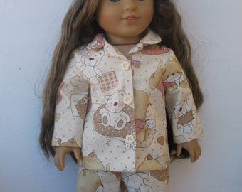 "Clothes for American girl,Journey Girl,Madame Alexander,Battat,Springfield,Gotz,My life 18"" Doll Pajamas"