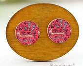 Buy 1 Get 1 Free - Cat Wooden Cabochon Button, 12mm 15mm 20mm  Round Handmade Photo Wood Cut Cabochon -- HWC049H