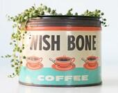 Vintage Wish Bone Coffee Tin, St. Louis, Missouri