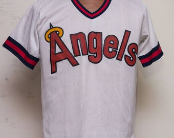 California Angels white MLB Souvenir Jersey 1980s original package