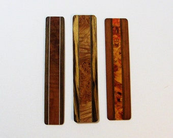 Bookmarks Made Of  Exotic Burl Woods