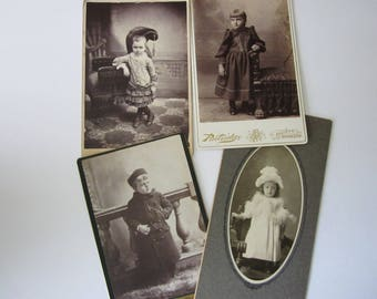 Antique Photographs Cabinet Cards children