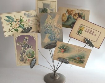 Easter Postcard Collection 2 Victorian Edwardian Paper Ephemera Mail Easter Spring Greetings Chick Cross Daffodil