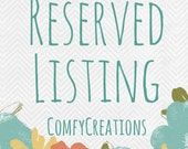 Reserved Listing for Lisa/Custom Eye Pillow