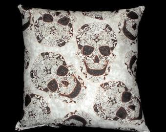 Gothic Sugar Skull Decorative Throw Pillow Home Decor/Bedding