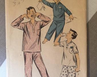 """Boy's Pajama 1950s Vintage Advance Pattern 7003 Size 6 Chest 24"""" - 1950s Advance / 50s Advance / 1950s Pattern / 50s Sewing Pattern"""