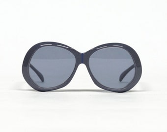 Gray Vintage Sunglasses , SILHOUETTE 54, 70s Eyewear in unworn new old stock condition with new lenses