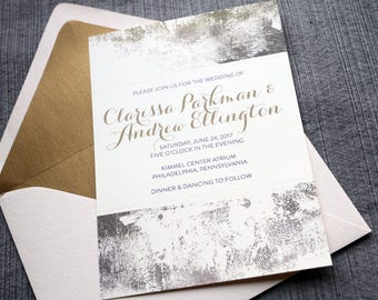 Gold Dust Weddings Invitations