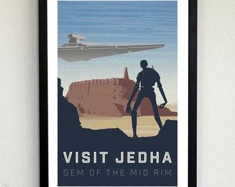 Star Wars Travel Poster - Visit Jedha