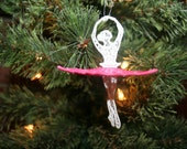 Christmas Ballerina Dancer 3D Lace Embroidered Tree Ornament SEWBUSY12