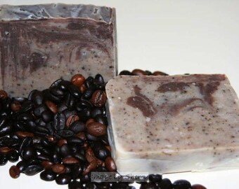 3d~ Espresso Swirl Soap Bars (x3) with FREE shipping
