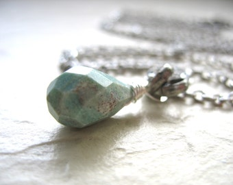 Ruby Fuchsite Necklace, Ruby Fuchsite, Faceted Stone Pendant Gemstone Necklace, Handmade Artisan Jewelry, Pendant Necklace