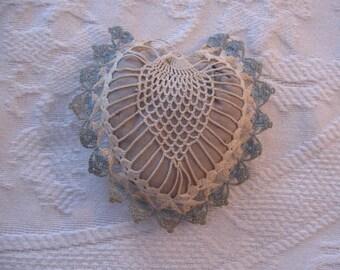 Vintage Hand Crochet Pin Cushion, Sewing Supplies, Handmade pin cushion