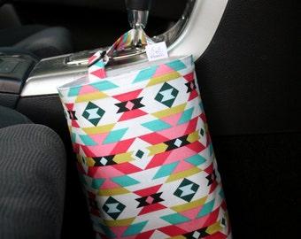 Car Litter Bag - Car Trash Bag - Aztec
