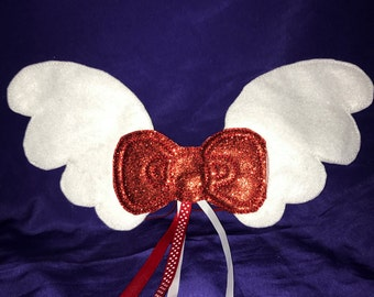 Custom Embroidered Kitty Angel Wings
