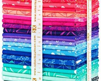 Robert Kaufman PANACHE Fat Quarter Bundle 30 Precut Cotton Fabric Quilting FQs Rebecca Bryan fq-1250-30