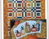 Quilt Pattern | Applique Pattern | Gathering Pumpkins | The Pattern Basket | Quilt - Table Runner | Charm - Jelly Roll Friendly